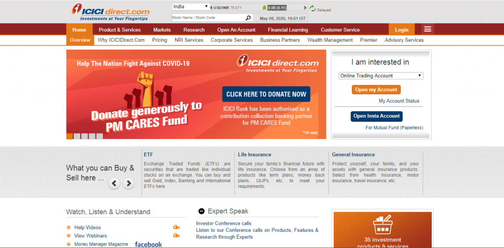 ICICI Direct Login